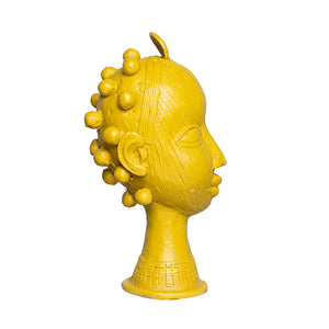 Dandelion Yellow: Lobi Head with Bantu Knots