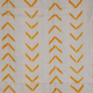 Pawpaw Yellow Bogolan Cloth Throw