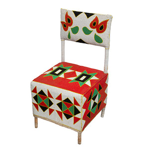 Yoruba Beaded Throne Chair II