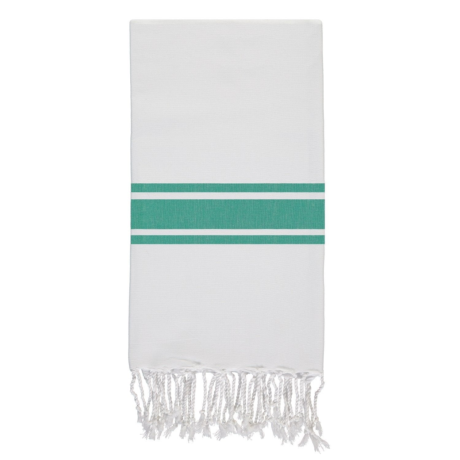 Emerald Green and White Hammam Towel