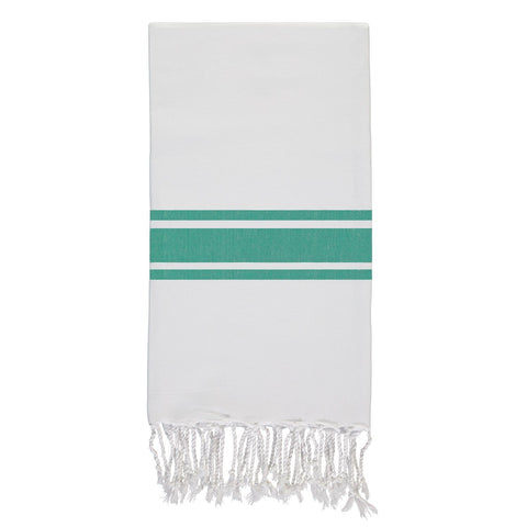 Emerald Green and White Fouta