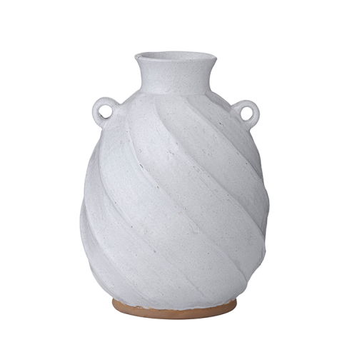 White Clay Pot with Handles (Medium)