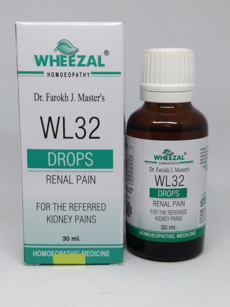 Wheezal WL32 Renal Pain Drop for the referred kidney pains