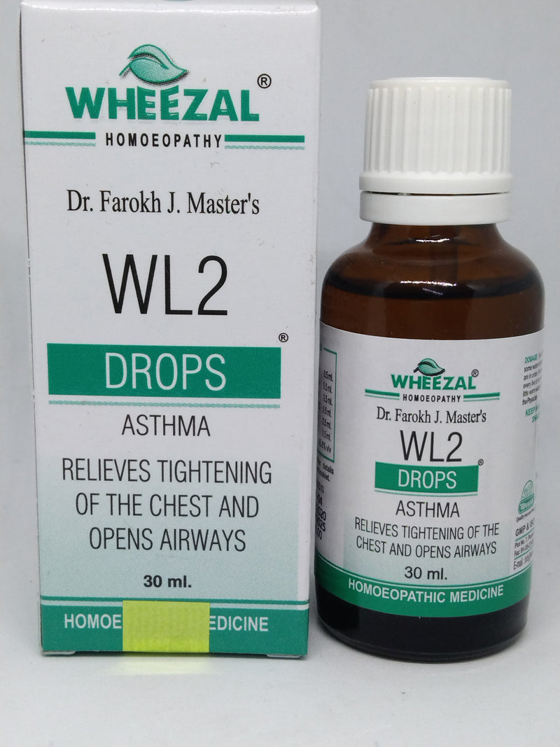 Wheezal WL02 Asthma Drop for relieves tightening of the chest & opens airways