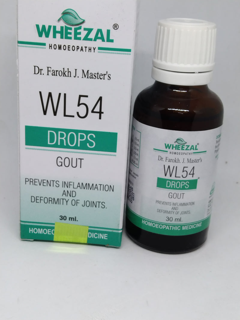 Wheezal WL54 Gout Drop for prevent  inflammation & deformity of joints