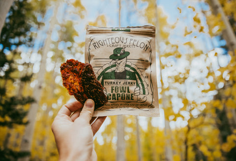 Turkey Jerky is performance enhancing food to help you fly!