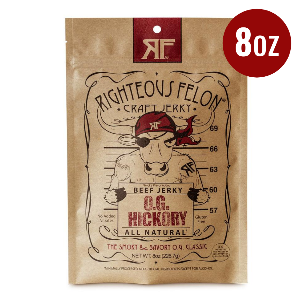 Righteous Felon O.G Hickory Bulk Jerky 8oz