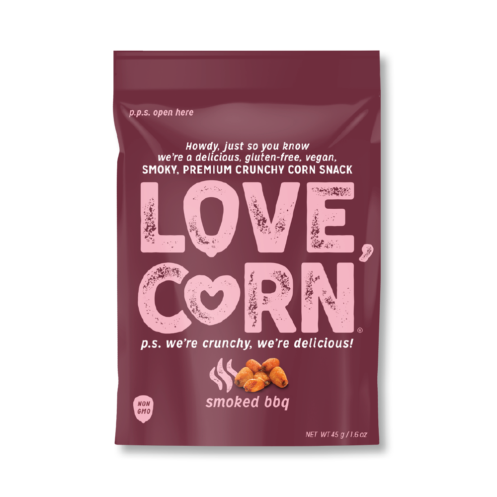 Love Corn Smoked BBQ Premium Roasted Corn 1.6oz (10ct)