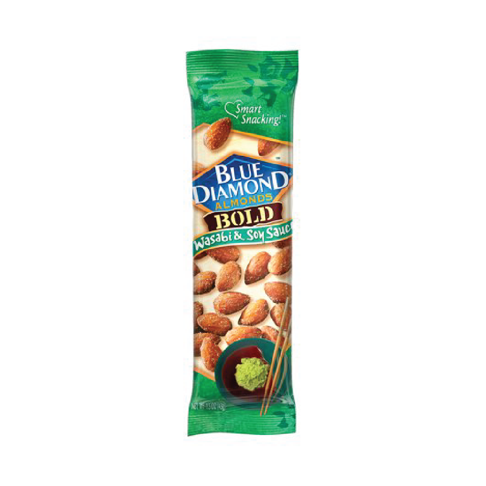Blue Diamond Bold Wasabi & Soy Sauce Almonds 1.5oz (12ct)