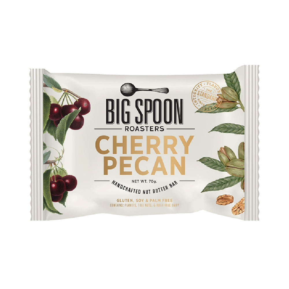 Big Spoon Roasters Cherry Pecan Nut Butter Bar 2.12oz (12ct)