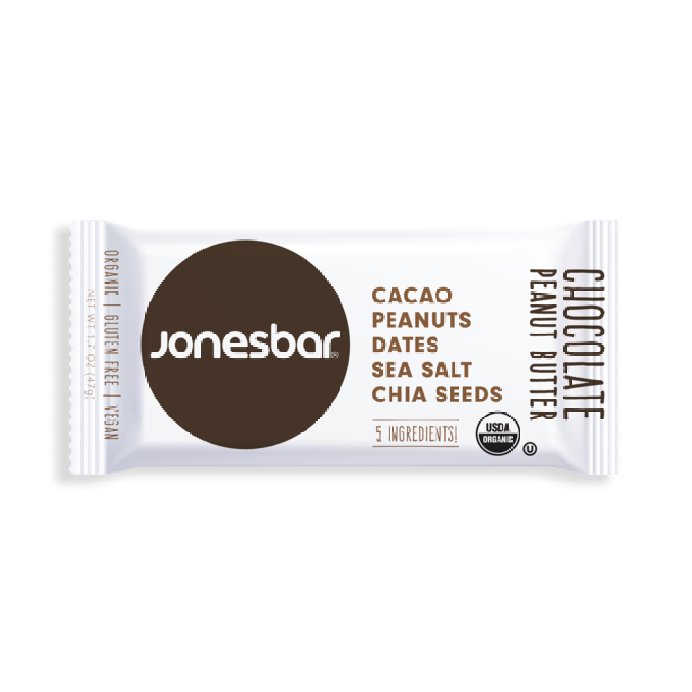 Jonesbar Chocolate Peanut Butter Organic Energy Bar 1.7oz (12ct)