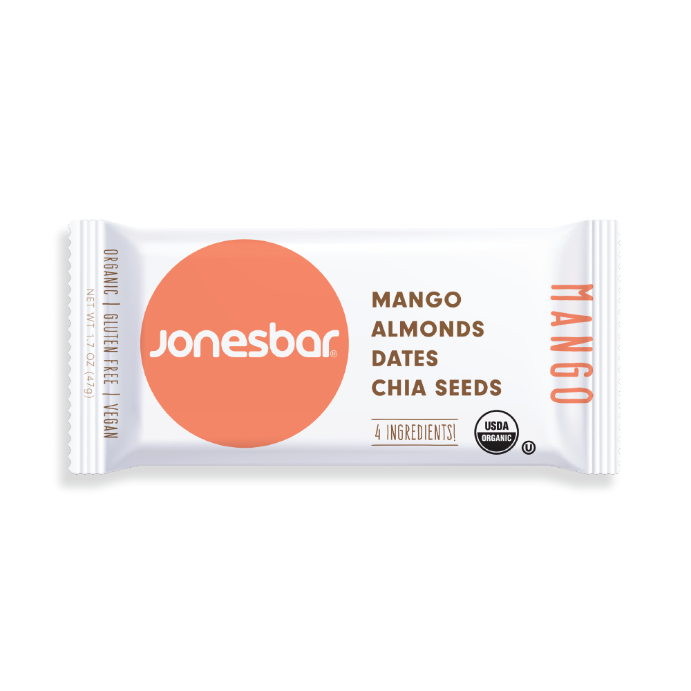 Jonesbar Mango Organic Energy Bar 1.7oz (12ct)