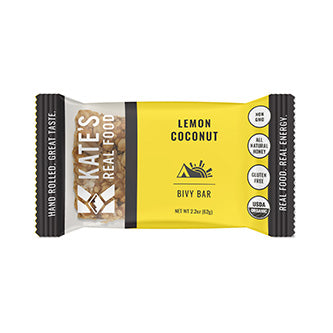 "Kate's Real Food ""Bivy"" Lemon Coconut & Ginger Oat Energy Bar 2.2oz (12ct)"
