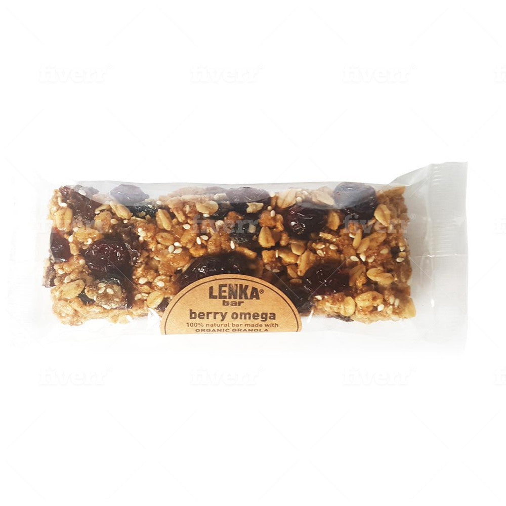 Lenka Berry Omega Granola Bars 2.25oz (12ct)