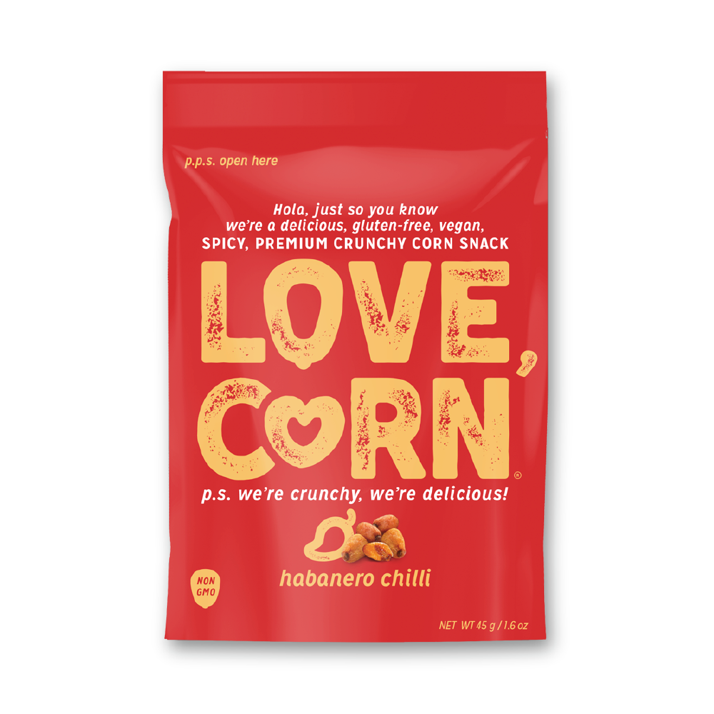 Love Corn Habanero Chili Premium Roasted Corn 1.6oz (10ct)