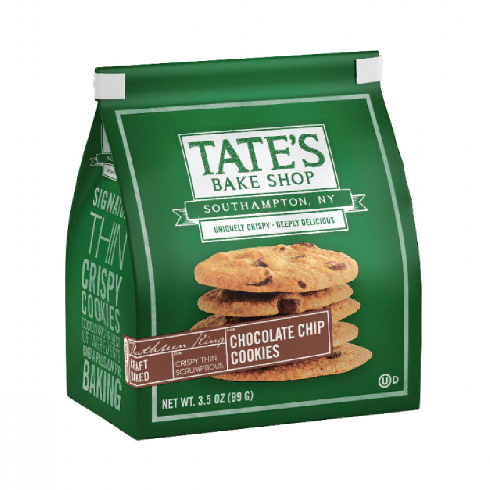Tate's Bake Shop Chocolate Chip Cookies 3.5oz (12ct)