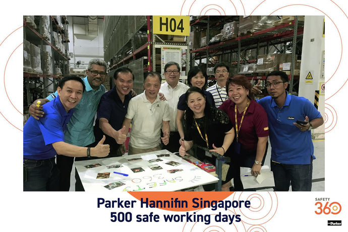 10 Jan 2020 - Parker Hannifin Singapore 500 Safe Working Days