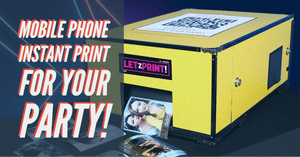 LetzPrint Instant Mobile Photo Printer Rental
