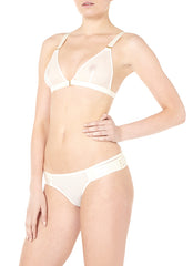 Art Deco Soft Mesh Triangle Bra