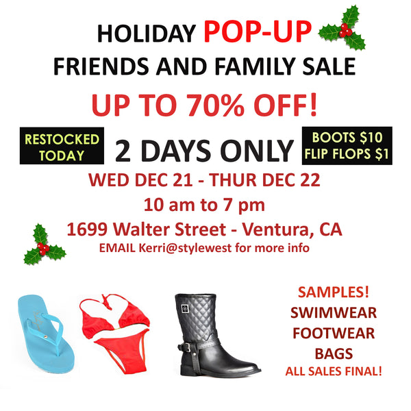 dav rain boot sample sale POP UP! TODAY ONLY