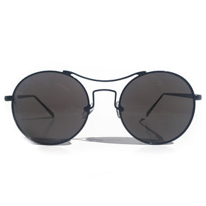 BARCELONA ROUND SUNGLASS IN BLACK