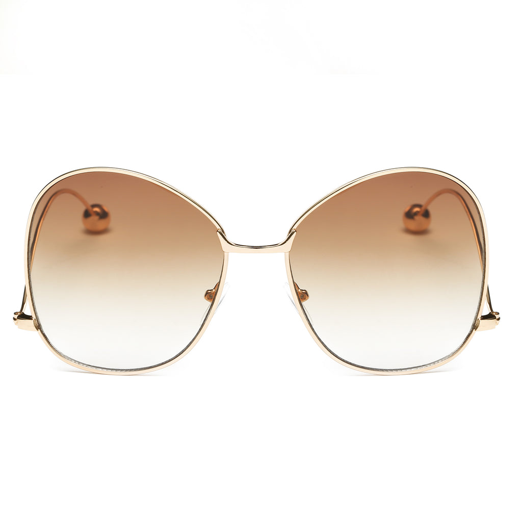 BOCA RETRO GLAM SUNGLASS IN GOLD