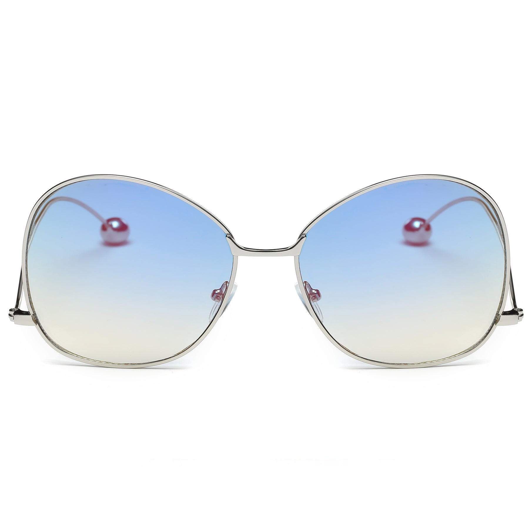 BOCA RETRO GLAM SUNGLASS IN SILVER