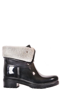 dav waterproof rainboot calgary with luxury faux shearling lining warm rain boot wellie