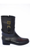 Women's fashion weatherproof dav rainboot Coventry Mid Suede Black