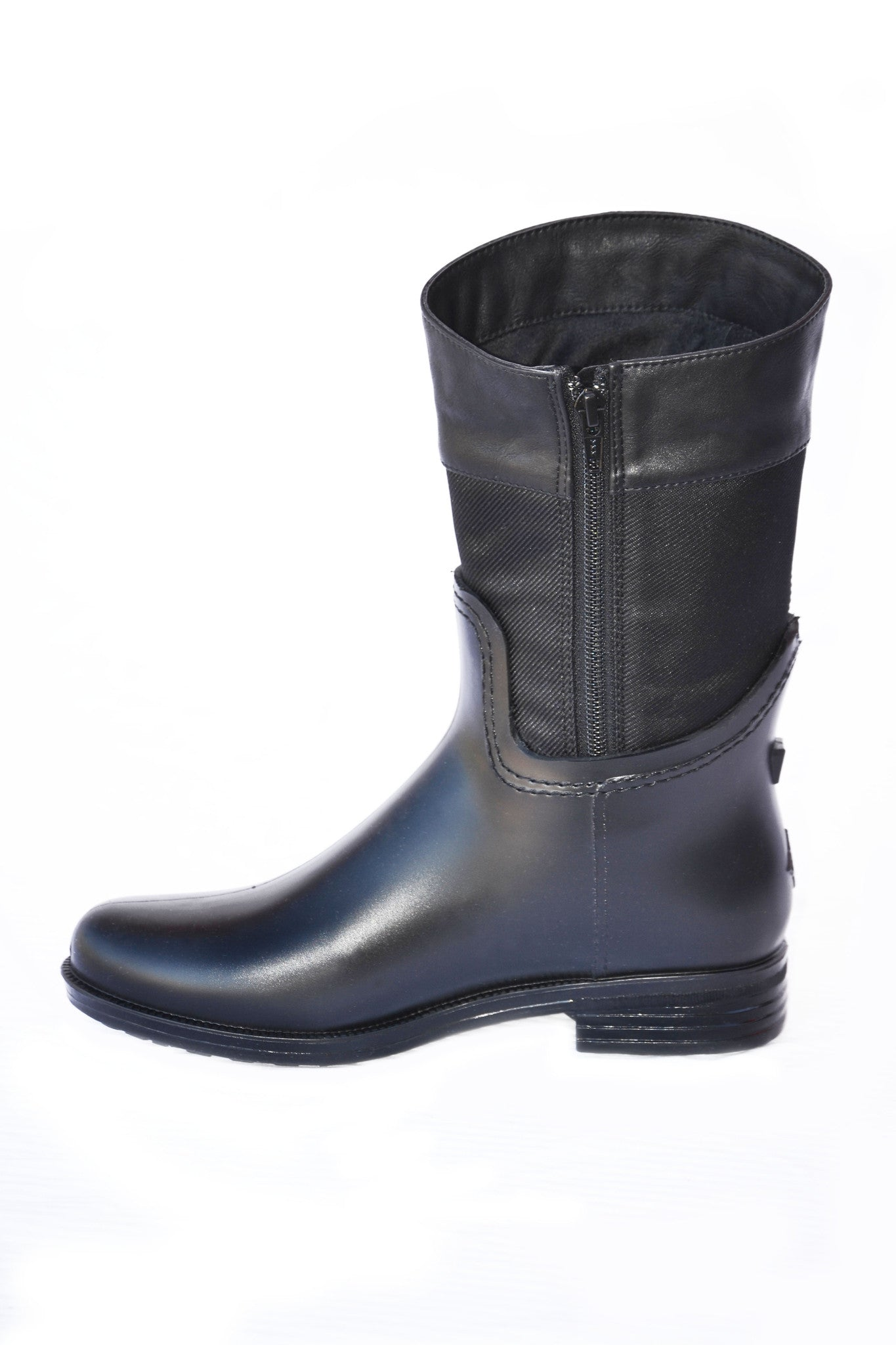 Women's fashion weatherproof dav rainboot Coventry Nylon Mid Black