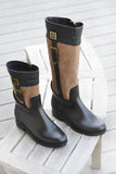 Women's fashion weatherproof dav rainboot Coventry Mid Black/Sable