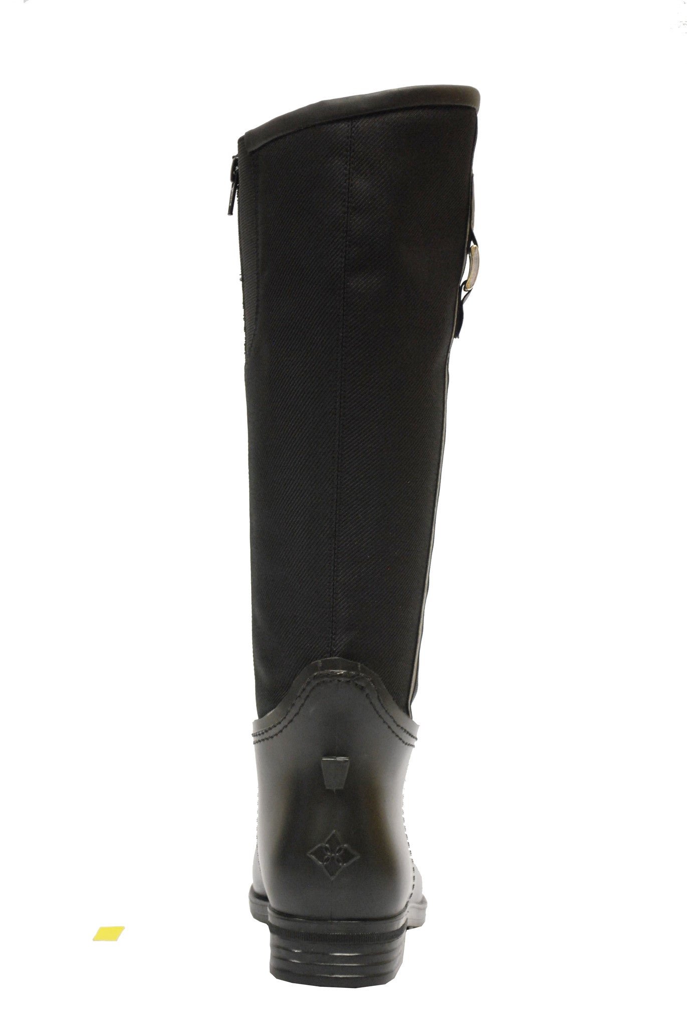 Women's fashion weatherproof foldable dav rainboot Fairfield Black/Flint
