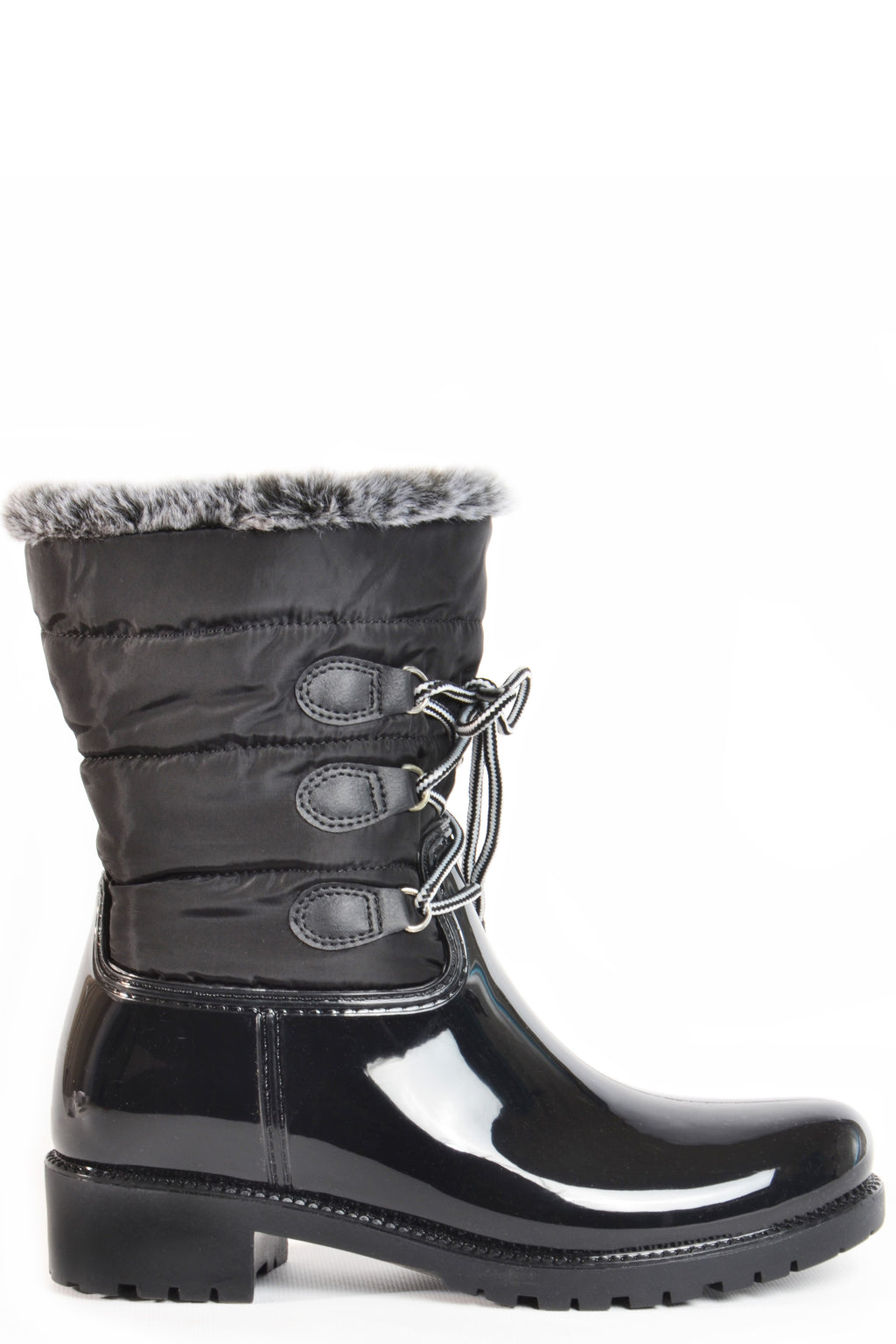 dav Helena luxury faux bunny fur lined boot waterproof