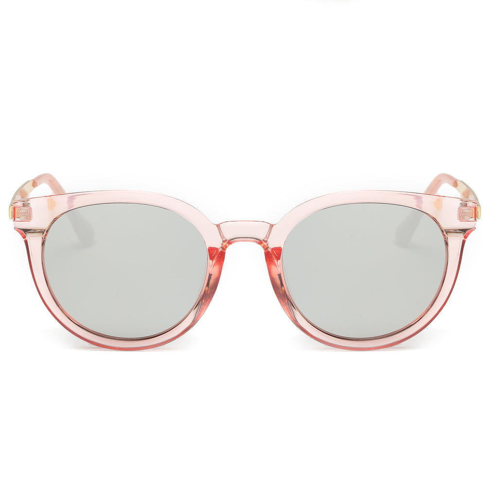 IBIZA CAT-EYE SUNGLASS CLEAR PINK WITH MIRROR