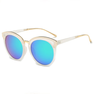 LAGUNA CAT EYE SUNGLASS CLEAR WITH MIRROR