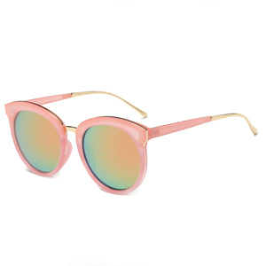 LAGUNA CAT EYE SUNGLASS PINK WITH MIRROR