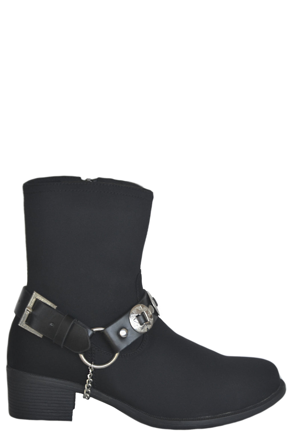 MANHATTAN BREATHABLE WATERPROOF MID-HEIGHT NYLON BOOT WITH CONCHO BELT