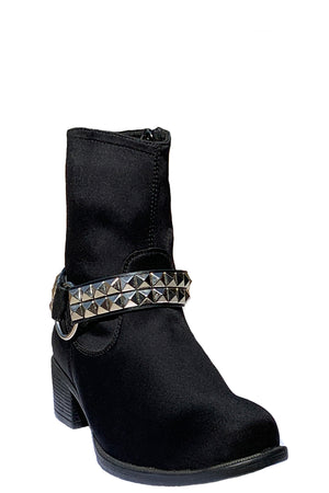 MANHATTAN BREATHABLE WATERPROOF MID-HEIGHT NYLON BOOT WITH SILVER PYRAMID BELT