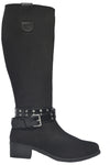 MANHATTAN BREATHABLE WATERPROOF NYLON TALL BOOT WITH SILVER STUD BELT