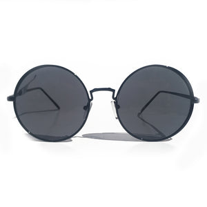 OJAI ROUND SUNGLASS IN BLACK