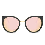 PALISADES SUNGLASS IN BLACK WITH PINK