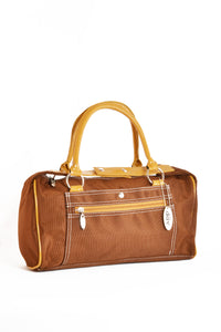 Small East West Handbag brown and gold