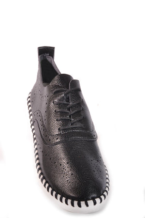 SALINAS LACE BROGUE BLACK