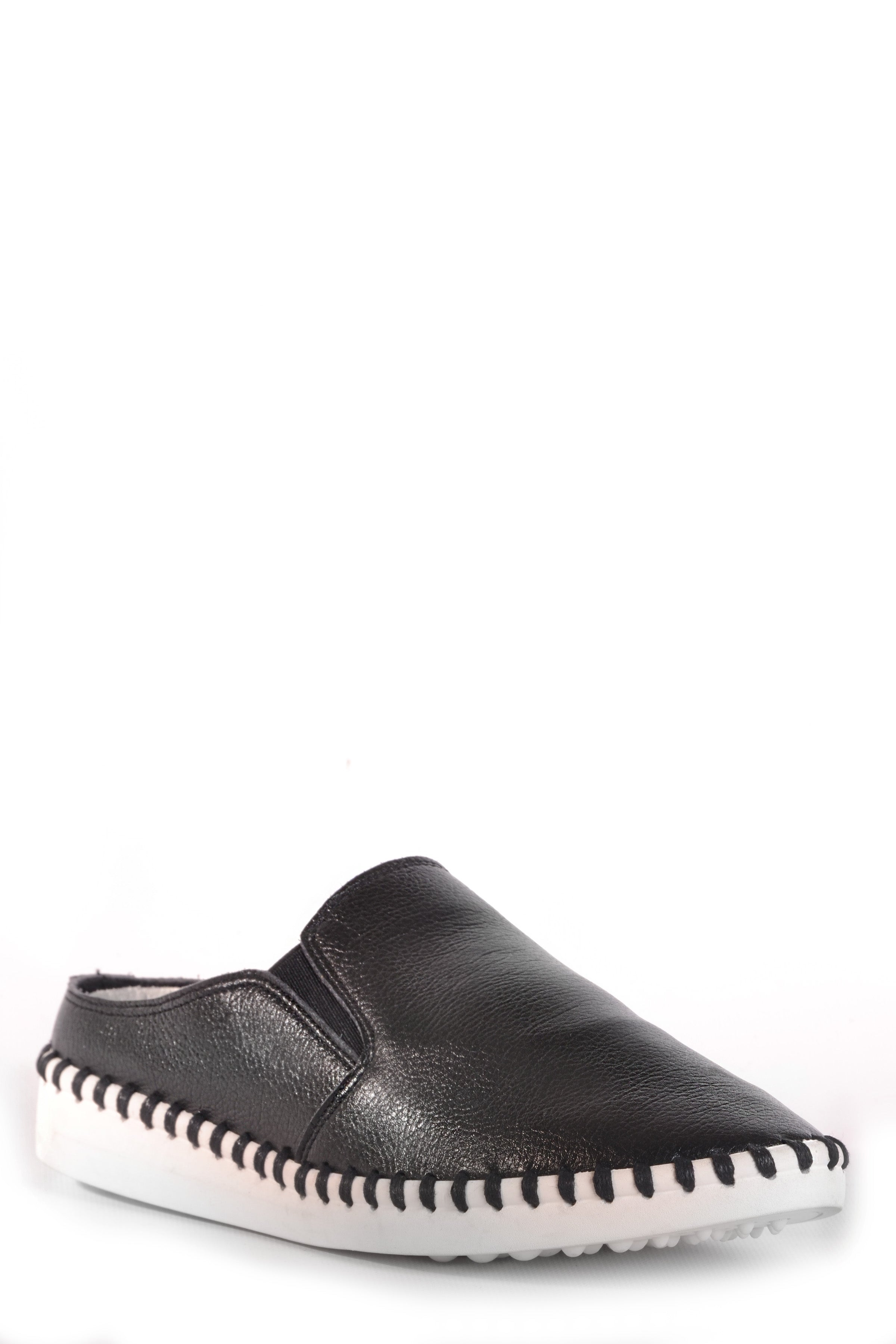 SALINAS SLIDE FAUX LEATHER BLACK