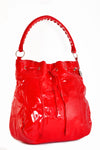 Large Vinyl Slouch Handbag Picnic Red