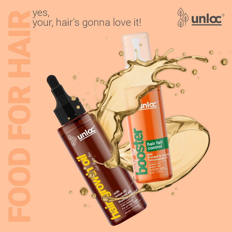 Unloc Mixify Hair Growth Combo - Hairfall Control Booster + Hair Growth Oil