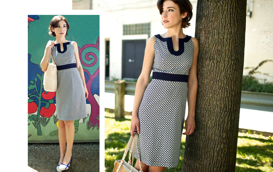 60s inspired dress with tunic detailing
