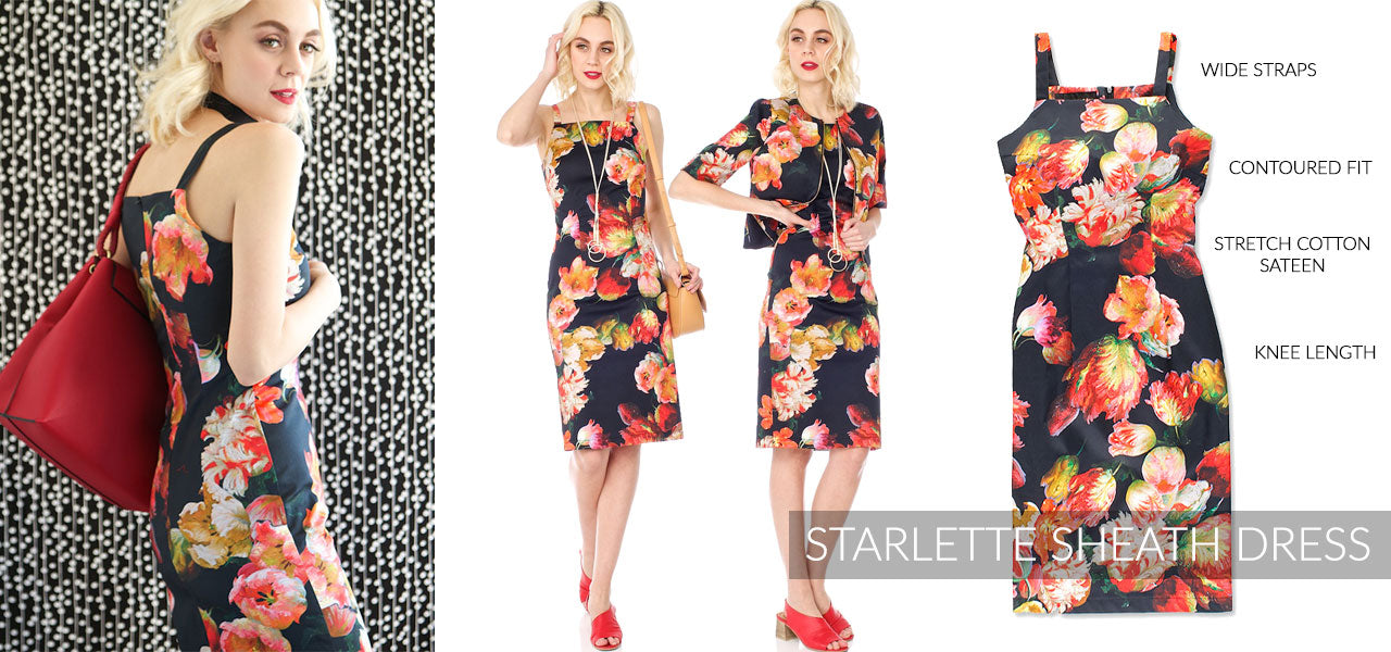 STARLETTE SHEATH DRESS
