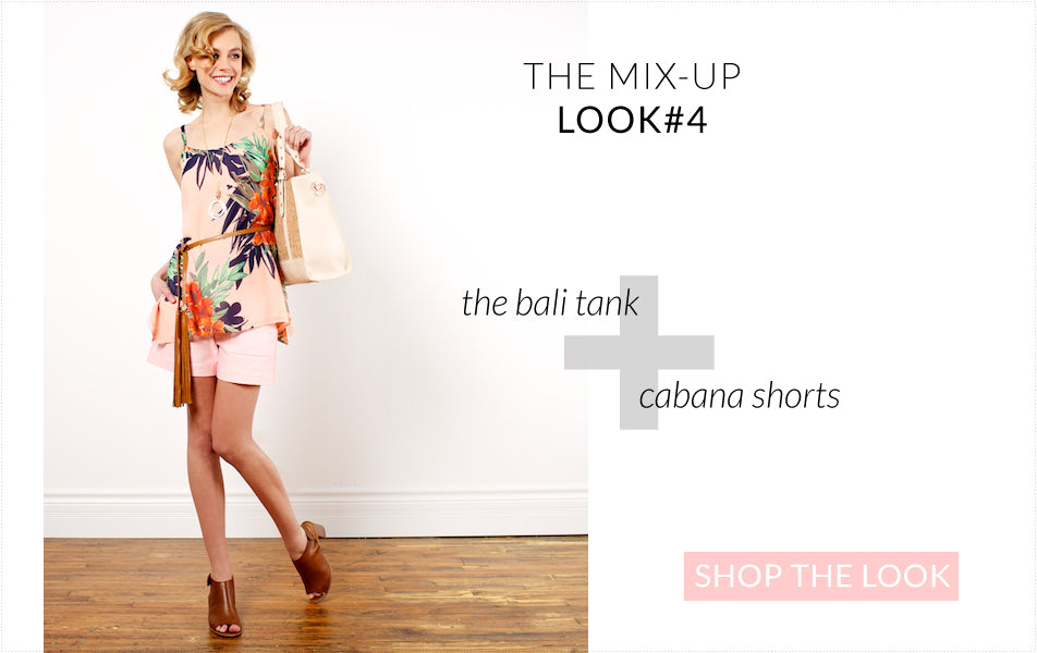 breaking up the Bali Tank with shorts