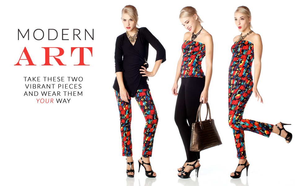 Colourful holiday party separates